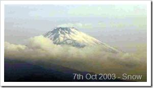 Mount Fuji 7th October 2003
